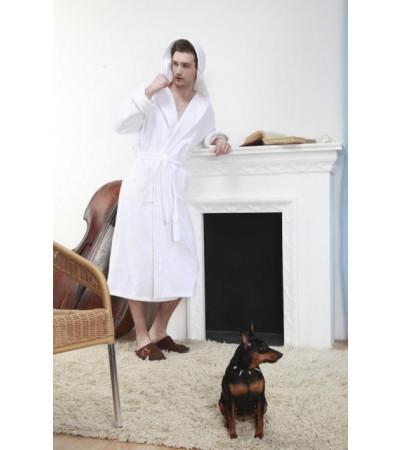 Банный халат с капюшоном Arctic White Plus(Е 901)