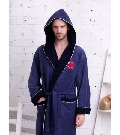 Спортивный укороченный халат из бамбука Italian Stalion(PECHE MONNAIE France 907jeans)