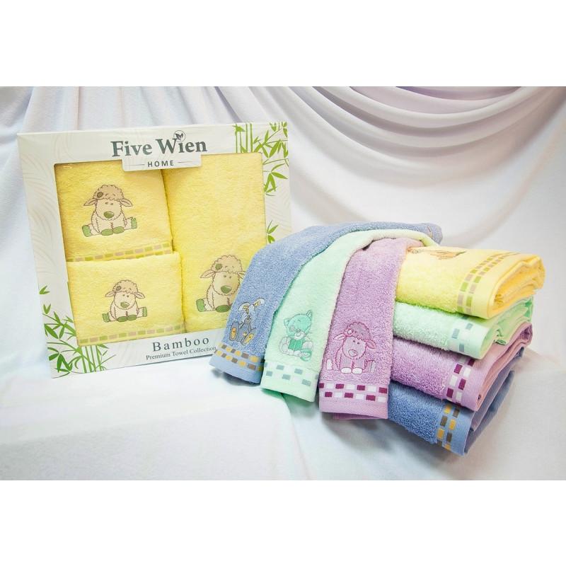 Набор 3-х бамбуковых полотенец Baby(ЕFW). Подарочная коробка. 4-е расцветки.