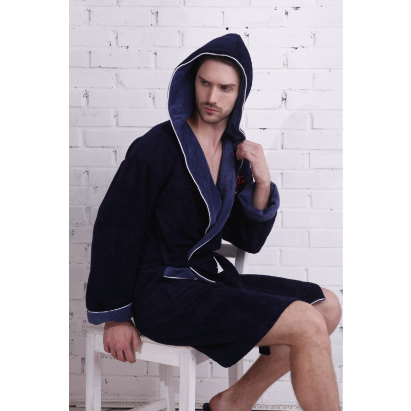 Спортивный укороченный халат из бамбука Italian Stalion(PECHE MONNAIE France 907deep)