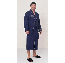 Мужской бамбуковый халат Bamboo Elit (EFW темно-синий)