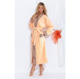 Стильный махровый халат Fancy(PECHE MONNAIE France 723peach)