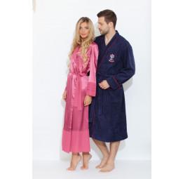 Махровый халат из бамбука SEAMAN(PECHE MONNAIE France 405dark)