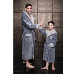 Athletic Junior (серый) подростковый бамбуковый халат