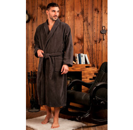 London (антрацит) классический мужской халат из микрокоттона