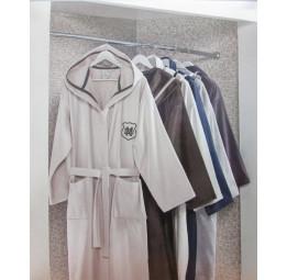 Удлиненный махровый халат с капюшоном класса Люкс LEONOR