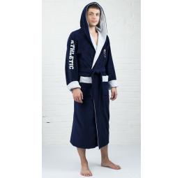 Бамбуковый спортивный мужской халат ATLETIK (синий)