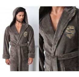 Махровый халат с капюшоном из бамбука Commander (E 2870)