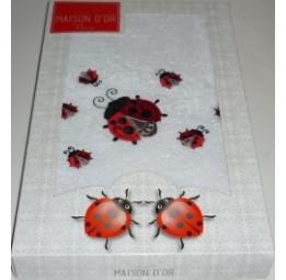 Махровое полотенце с вышивкой Lady Bag's(MD185)