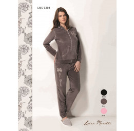 Стильный велюровый костюм Luisa Moretti(LMS 1204)