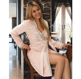 Махровый халат с вышивкой SIDNEY (EMD). Подарочная коробка. 3-и расцветки