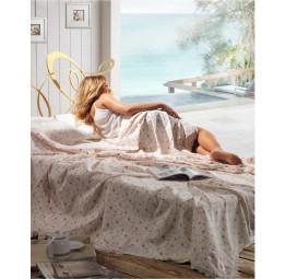 Легкое вафельное одеяло - покрывало с кружевом Rose's(EMD)-Хит сезона!