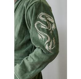 Мужской махровый халат DRAKON (хаки)