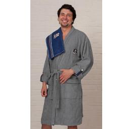 Легкий бамбуковый халат Yacht Club Grey