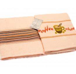 Набор вафельных полотенец с вышивкой TRENDY (EMD) 2 шт.