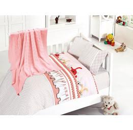 """Детское постельное белье из бамбука с вязанным покрывалом """"Джинни""""(Ginny 403)"""