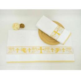 Бамбуковое махровое полотенце для крещения Gold bamboo(EA Ches-e)