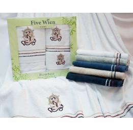 Бамбуковые полотенца Yacht Club(EFW). Отличный вариант для мужчин! Набор из 3-х полотенец в подарочной коробке. 5-ть расцветок.