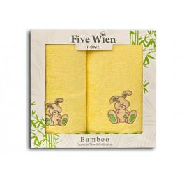 Набор детских бамбуковых полотенец Baby(FW). 2-е штуки. Подарочная коробка. 4-е расцветки.