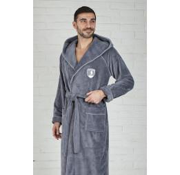Спортивный халат с капюшоном POLITE MEN(ЕFW grey)