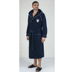 Спортивный халат с капюшоном POLITE MEN(ЕFW blue)