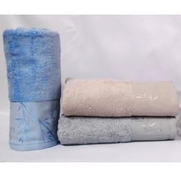 Нежные бамбуковые полотенца Malika(ЕА). Набор из 2-х штук.