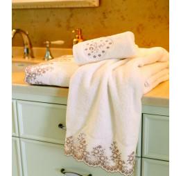 Махровое полотенце с кружевом FLORA'S(EMD8077)