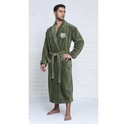 Махровый халат из бамбука Cardinal's(EFW Кhaki)