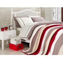 Сатиновое постельное белье с вязанным покрывалом NIRVANA SET(212 narci)
