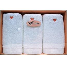 Нежные махровые полотенца - салфетки Love (EMD). 3-и штуки
