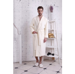 Бамбуковый махровый халат NATUREL(PECHE MONNAIE France 908gold)
