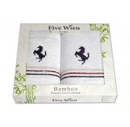 Бамбуковые полотенца FERRA(EFW). Отличный вариант для мужчин! Набор из 2-х полотенец в подарочной коробке. 5-ть расцветок.