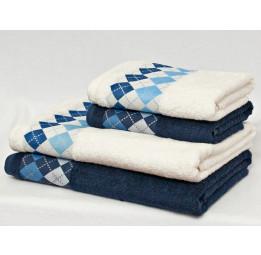 Махровые полотенца из бамбука OXFORD(EFW). Набор из 3-х полотенец в подарочной коробке. 6-ть расцветок.