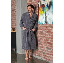 Махровый халат из бамбука Daniel's(EFW 418silver)