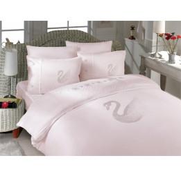 Комплект постельного белья из бамбука Crystal Kugu(пудра)