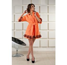Укороченный махровый халат BONY(EFW peach)