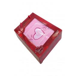 Махровое полотенце LOVE YOU (EA Gursan). VIP Cotton в подарочной коробке.