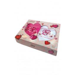 Набор махровых полотенец LOVE YOU (EA Gursan). VIP Cotton в подарочной коробке.