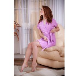 Женский халат из облегченной махры EASY(378 сиреневый)