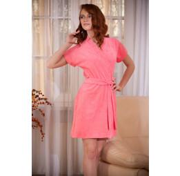 Женский халат из облегченной махры EASY(378 нежно-розовый)
