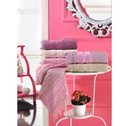Шикарное полотенце с кружевами GIPURLU Kancer Color