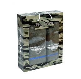 """Стильный набор махровых полотенец из бамбука Polite MAN-""""Вежливые люди""""(ЕО)"""