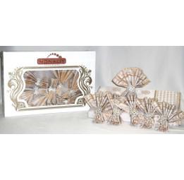 Скатерть с 6-ю салфетками и декоративными кольцами Saphire(003)