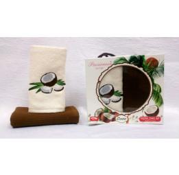 Набор из 2-х махровых полотенец для кухни Coco - Кокосы(EA 5521 Pasionessa Fresh)