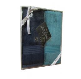 Набор из 2-х бамбуковых полотенец для рук AMADEUS (EMD). 5-ть цветов