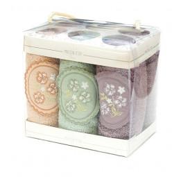 Набор махровых салфеток для кухни Ella lilac (EMD) 6 шт.