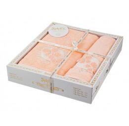 Набор нежных махровых полотенец Organic Cotton(EA 5629Sikel). В оригинальной коробке.