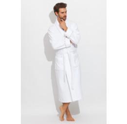 "Шикарный махровый халат из микро-коттона BRUTAL(PECHE MONNAIE France 920white) - ""Толстый"" и плотный!"