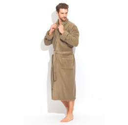 "Шикарный махровый халат из микро-коттона BRUTAL(PECHE MONNAIE France 920olives) - ""Толстый"" и плотный!"