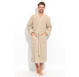 """Шикарный махровый халат из микро-коттона BRUTAL(PECHE MONNAIE France 920coffee) - """"Толстый"""" и плотный!"""